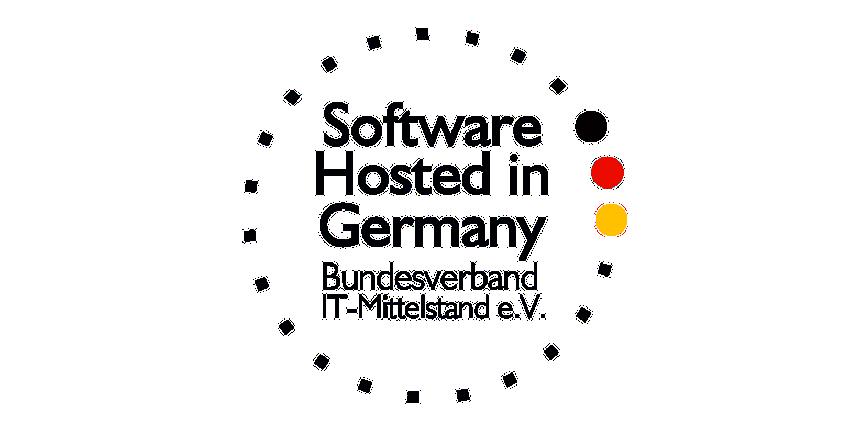 """Ausgezeichnet vom BITMi mit Gütesiegel """"Software hosted in Germany"""""""
